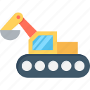 bulldozer, cat bulldozer, construction, crawler, excavator icon
