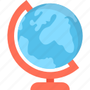 desk globe, globe, map, office supplies, table globe icon