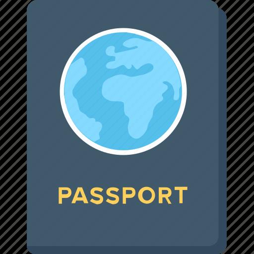 pass, passport, travel, travel permit, visa icon