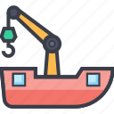 lifter, luggage lifter, tow, transport, vehicle icon