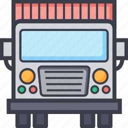 cargo truck, commercial delivery, lorry, shipping, transport icon