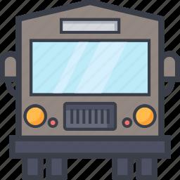 autobus, bus, coach, transport, vehicle icon