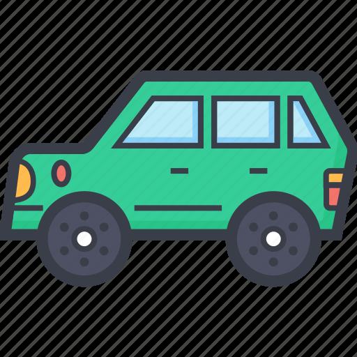 car, hatchback, luxury car, luxury vehicle, tour bus, transport icon