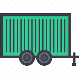 cargo containers, delivery, sea freight, shipping, warehouse icon