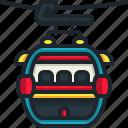 cable, car, cabin, ski, resort, transportation, travel