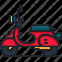 scooter, transportation, motorcycle, vehicle, bike