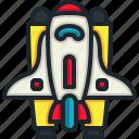 space, ship, shuttle, rocket, transport, launch