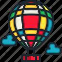 hot, air, balloon, transportation, trip, travel, fly