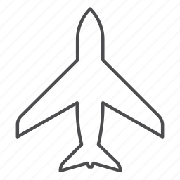 aircraft, airplane, flight, plane, top view, transport, travel icon