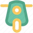 motorcycle, motorscooter, scooter, scooti, scooty, transport, vespa icon