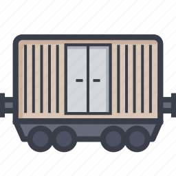 cargo container, cargo train, container, delivery container, freight train icon