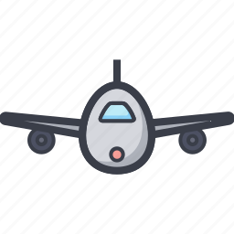 aeroplane, airplane, flight, passenger plane, plane icon