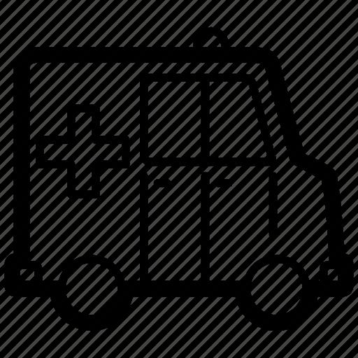 ambulance, car, emergency, rescue, siren, vehicle icon
