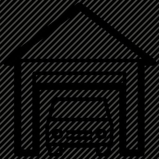 auto, car, door, garage, home, parking, personal icon