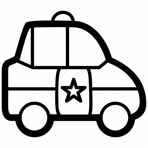 authority, auto, car, official, police, vehicle icon
