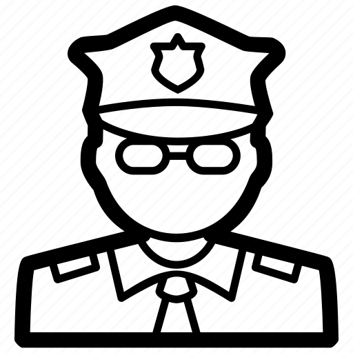 authority, law, officer, order, police, signal, traffic icon