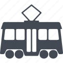 engine, fuel, passenger, route, speed, tram, transport icon