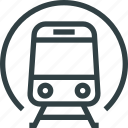 metro, public, train, tram, transport icon