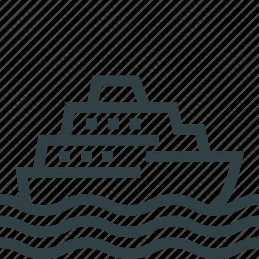 boat, ship, transport icon