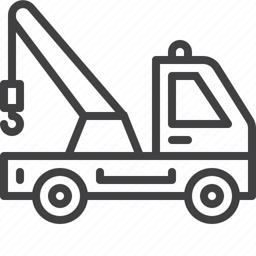 service, tow, transport, truck icon