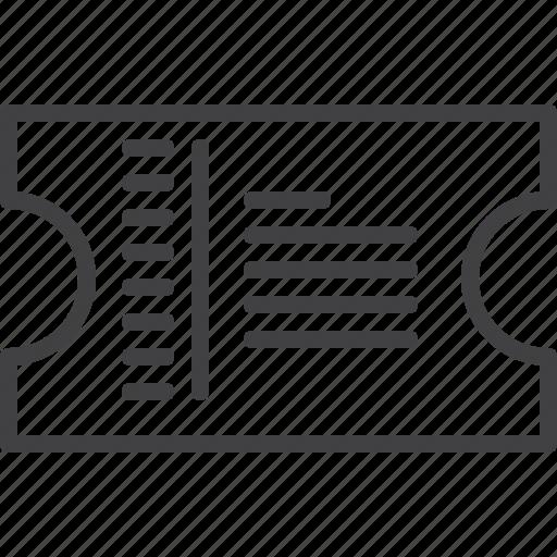 ticket, transport icon