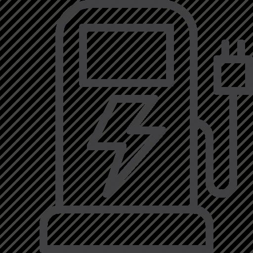 charging, electric, ev, station, transport icon