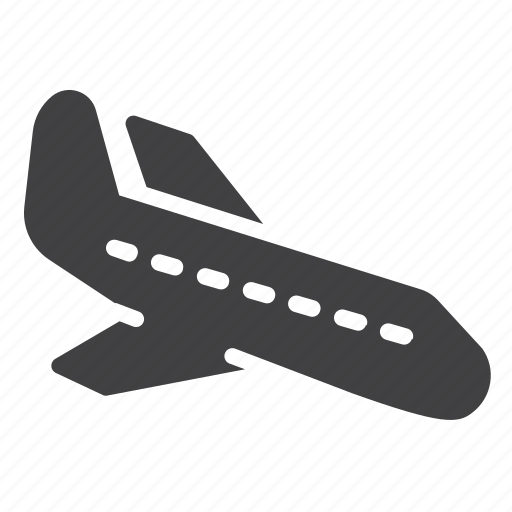 arrival, landing, plane, transport icon