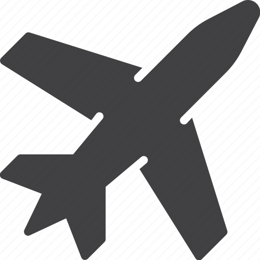 aircraft, airline, plane, transport icon