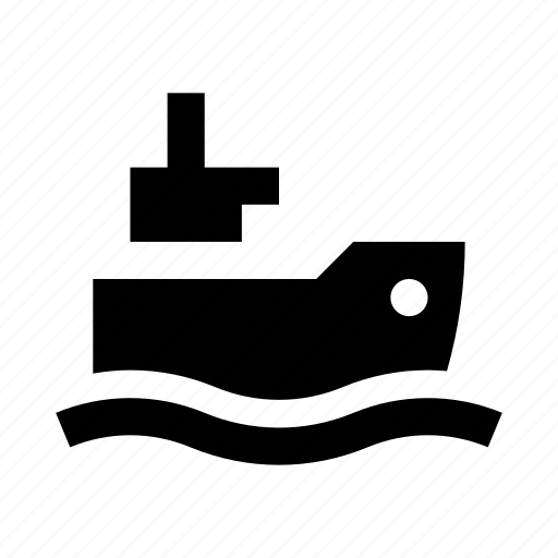 boat, cargo, delivery, ship, wave icon