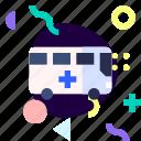 adaptive, ambulance, ios, isolated, material design, transport icon