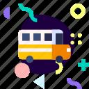 adaptive, bus, ios, isolated, material design, school bus, transport
