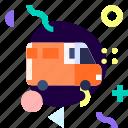 adaptive, ios, isolated, material design, transport, van icon