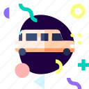 adaptive, car, ios, isolated, limousine, material design, transport icon