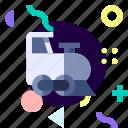 adaptive, ios, isolated, locomotive, material design, transport icon