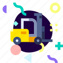 adaptive, forklift, ios, isolated, material design, transport icon