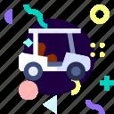 adaptive, golf car, ios, isolated, material design, transport