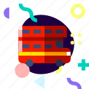 adaptive, double decker bus, ios, isolated, material design, transport