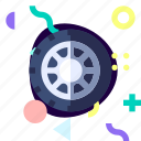 adaptive, ios, isolated, material design, transport, wheel icon