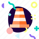 adaptive, ios, isolated, material design, safety cone, transport