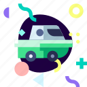 adaptive, amphibious vehicle, ios, isolated, material design, transport