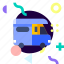 adaptive, camper, ios, isolated, material design, transport icon