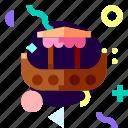 adaptive, gondola, ios, isolated, material design, transport icon