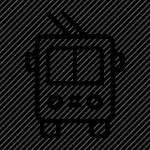 car, public, transport, transportation, trolleybus, vehicle icon