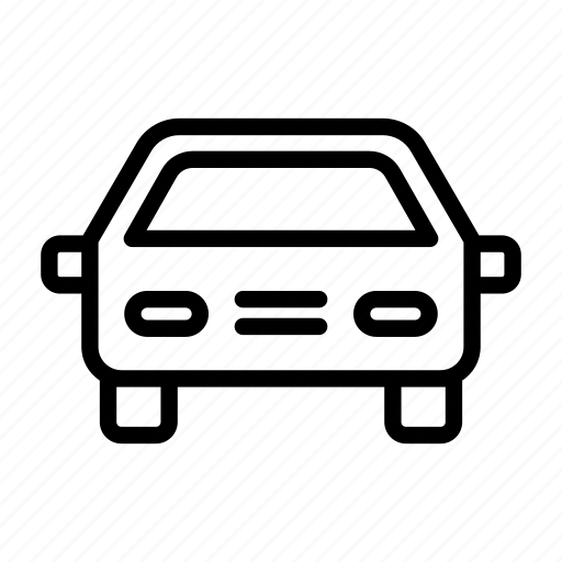 cab, car, drive, driver, front, transport, view icon