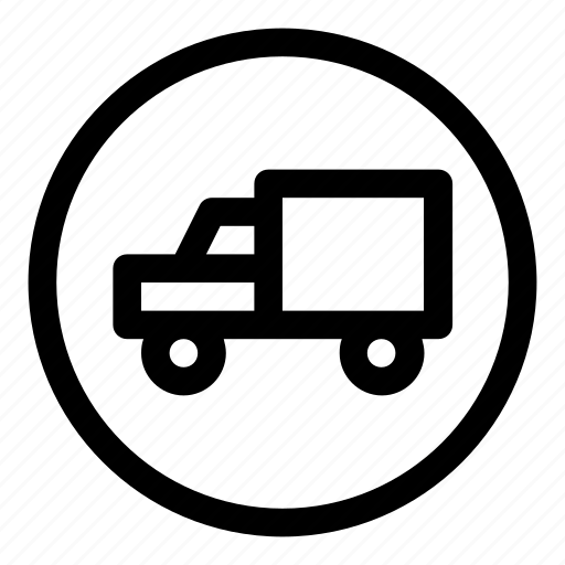 car, sign, truck, vehicle icon