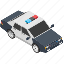 car, cop car, cop vehicle, police car, police sedan icon