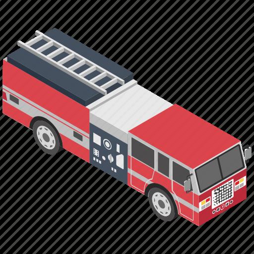 fire apparatus, fire engine, fire tender, fire truck, rescue truck icon
