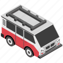 electric minibus, electric vehicle, minibus, transport, urban vehicle icon