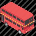 decker bus, double decker, london bus, transport, traveling icon