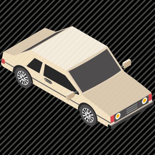 automobile, car, sedan, transport, vintage icon